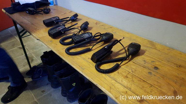 Einweisung in neue Funkgeräte
