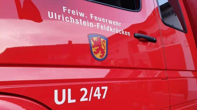 Feuerwehr Feldkrücken Schriftzug