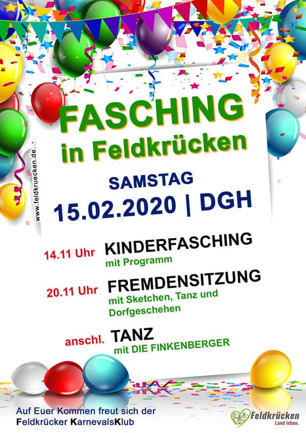 Flyer-Plakat Fasching 2019