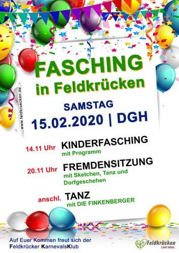 Flyer-Plakat Fasching 2019